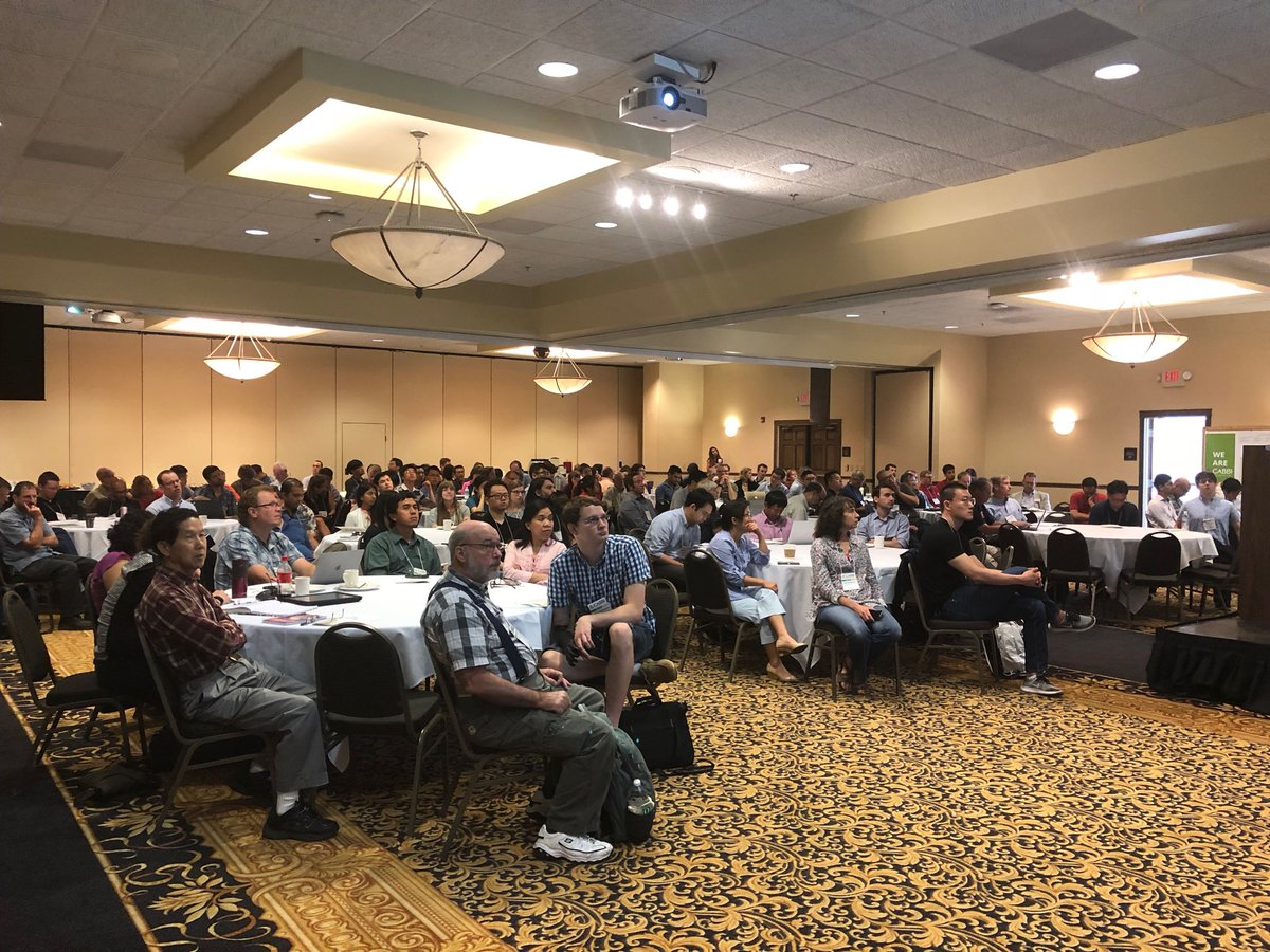 A packed house for the first annual CABBI retreat. The first day was dedicated to collaboration between the three themes, an update from the Department of Energy, and networking.